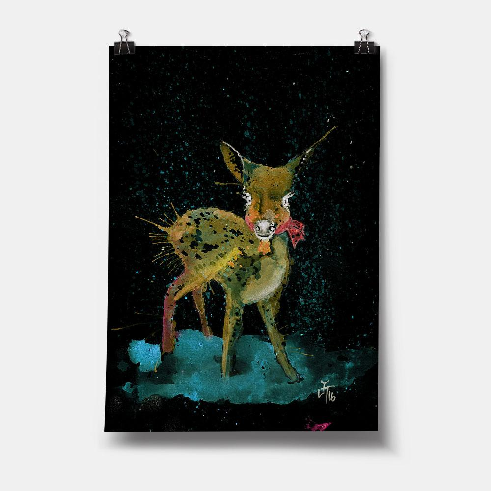 Oh Deer Enchanted Art Print