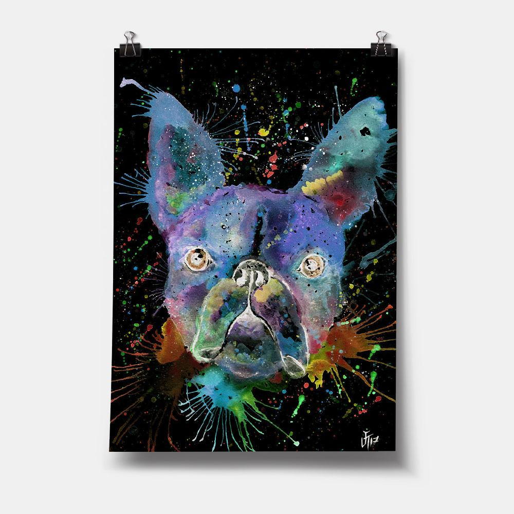"""Bruno"" Boston Terrier Enchanted Art Print"