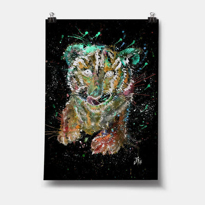 """Franklin"" Tiger Cub Enchanted Art Print"