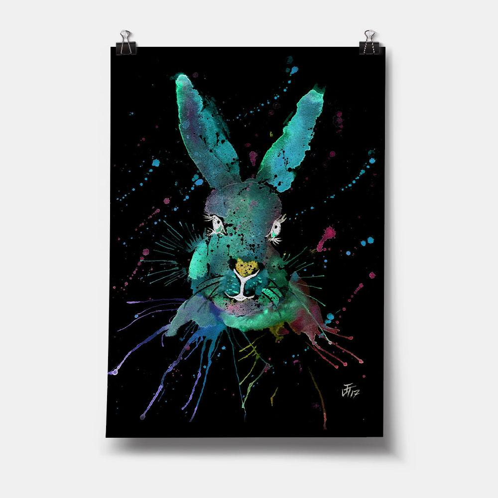 """Minty"" Hare Enchanted Art Print"