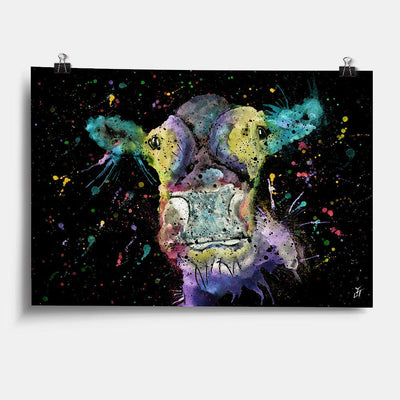"""Daisy"" Cow Enchanted Art Print"