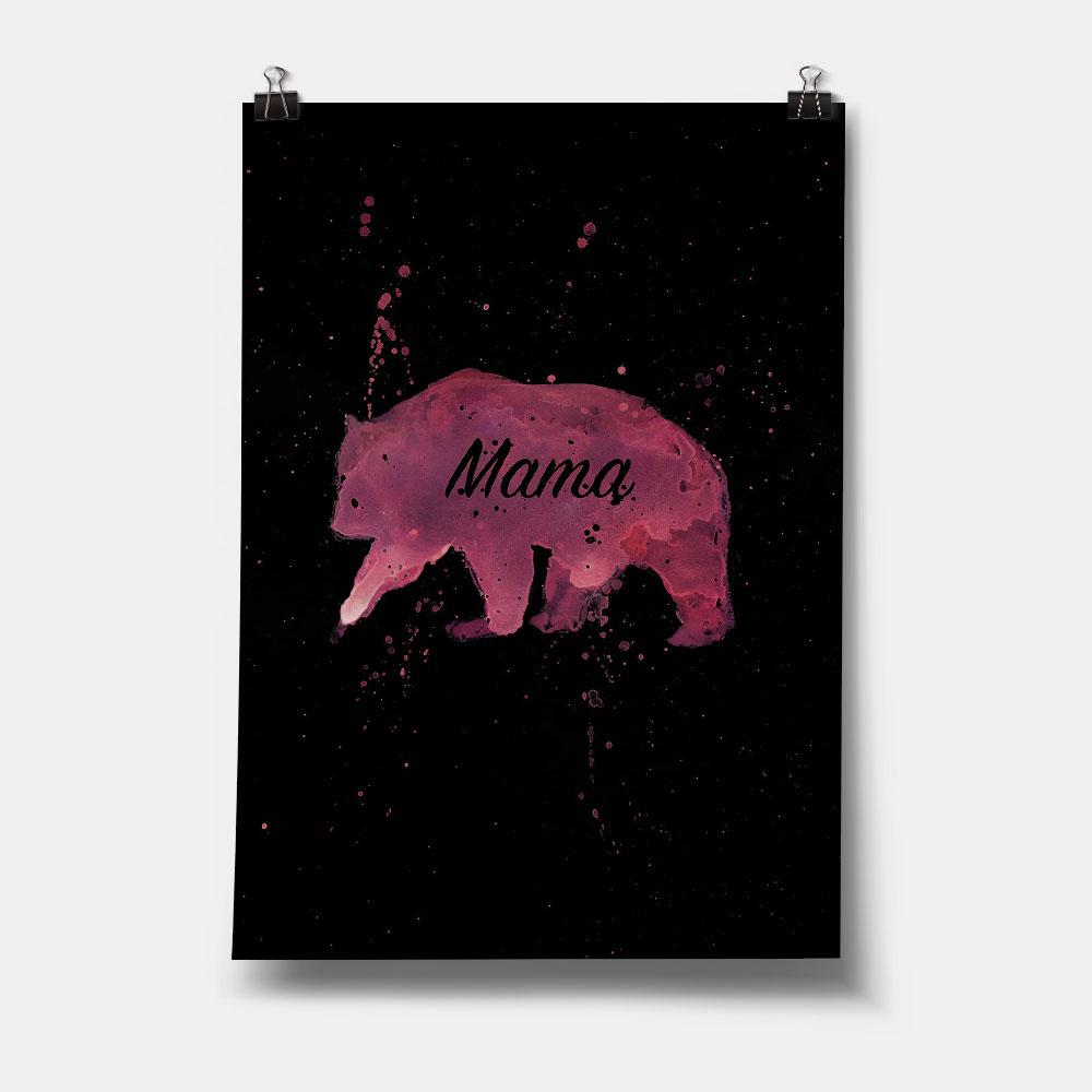 Mama Bear Enchanted Art Print