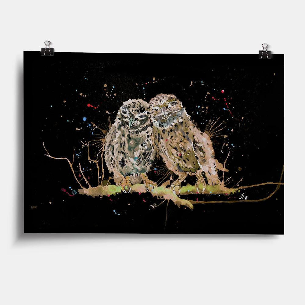 My Favourite Owl Enchanted Art Print