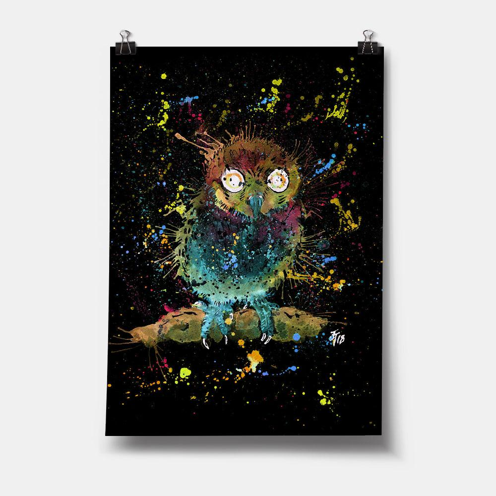 Baby Owl Enchanted Art Print