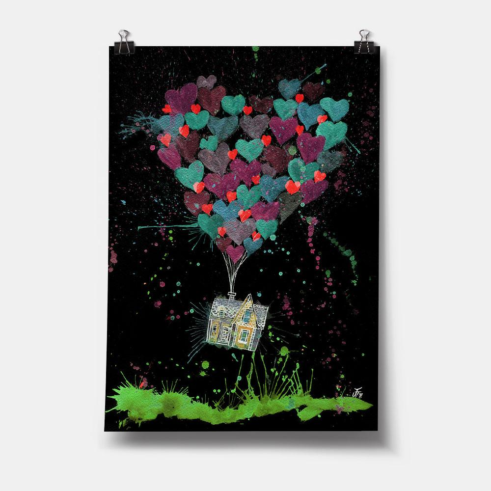 Valentines Up Enchanted Art Print