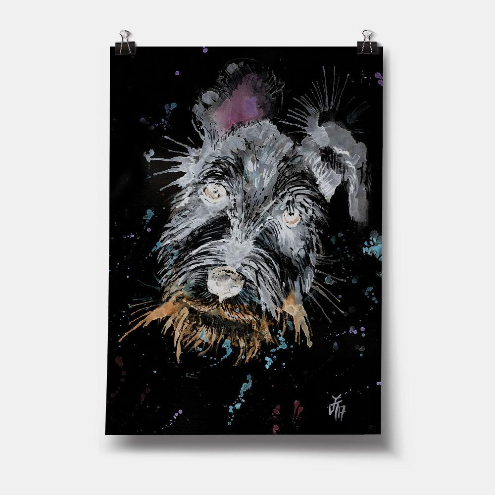 Mel Schnauzer Enchanted Art Print