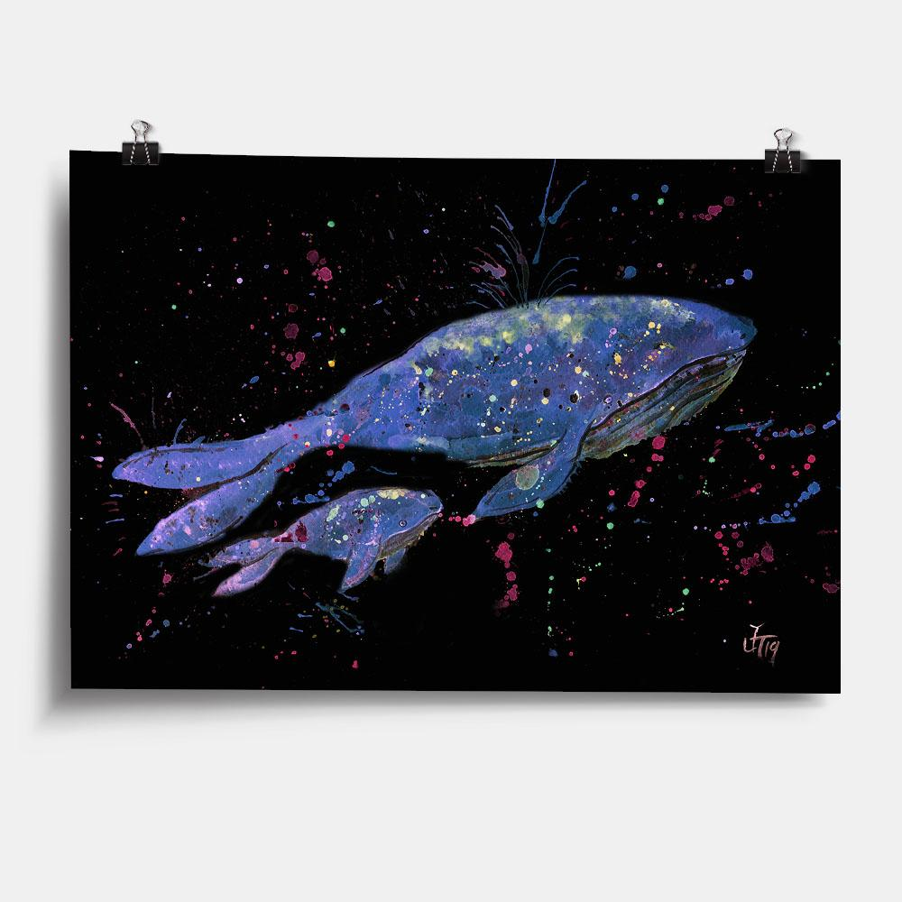 Berta & Baby Whale Enchanted Art Print