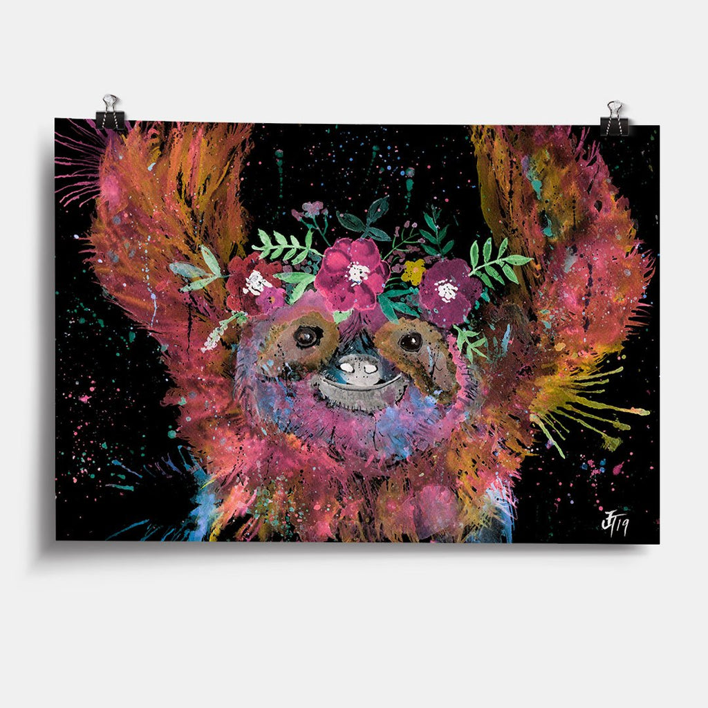 Hey Mrs Sloth Enchanted Art Print