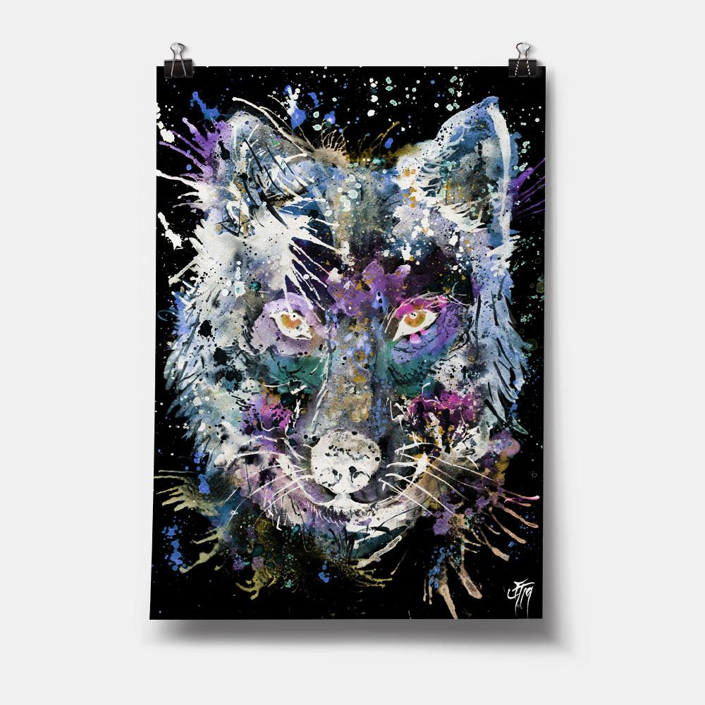 """Howl"" Wolf Enchanted Art Print"