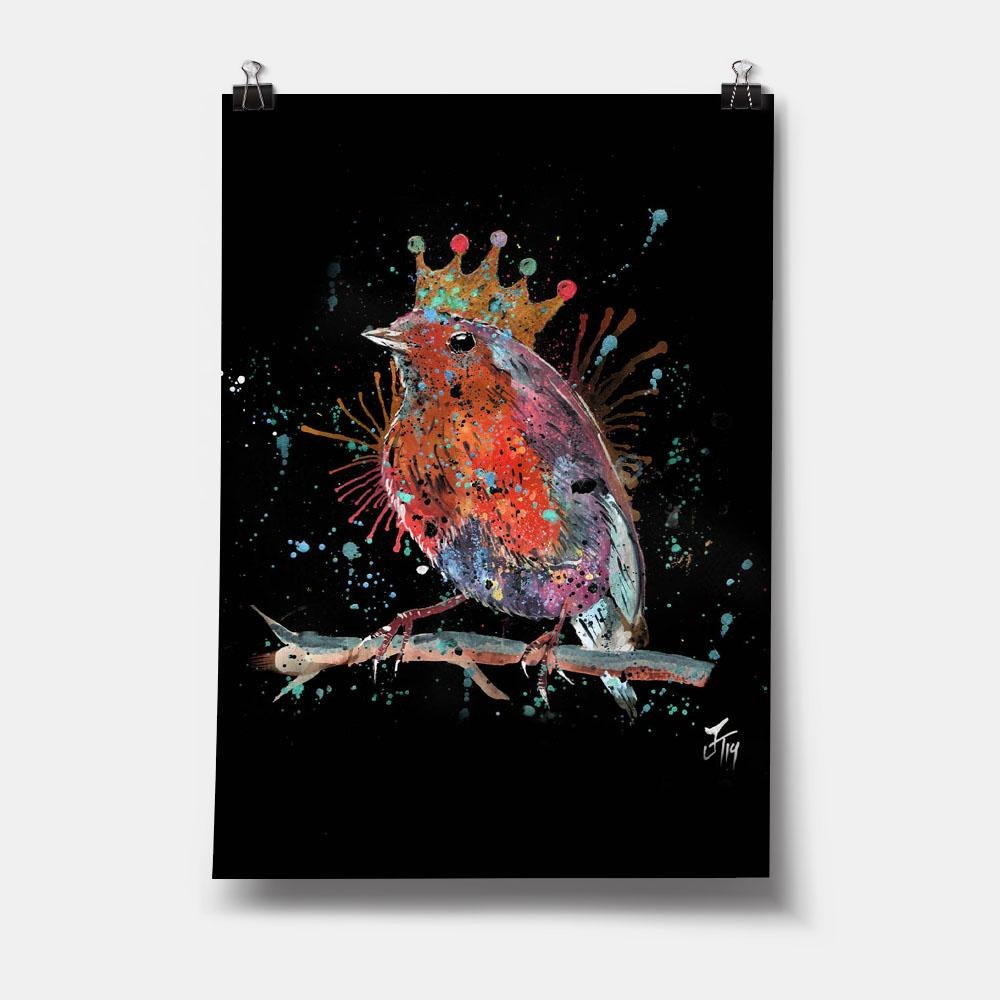"""Clancy"" Robin Enchanted Art Print"
