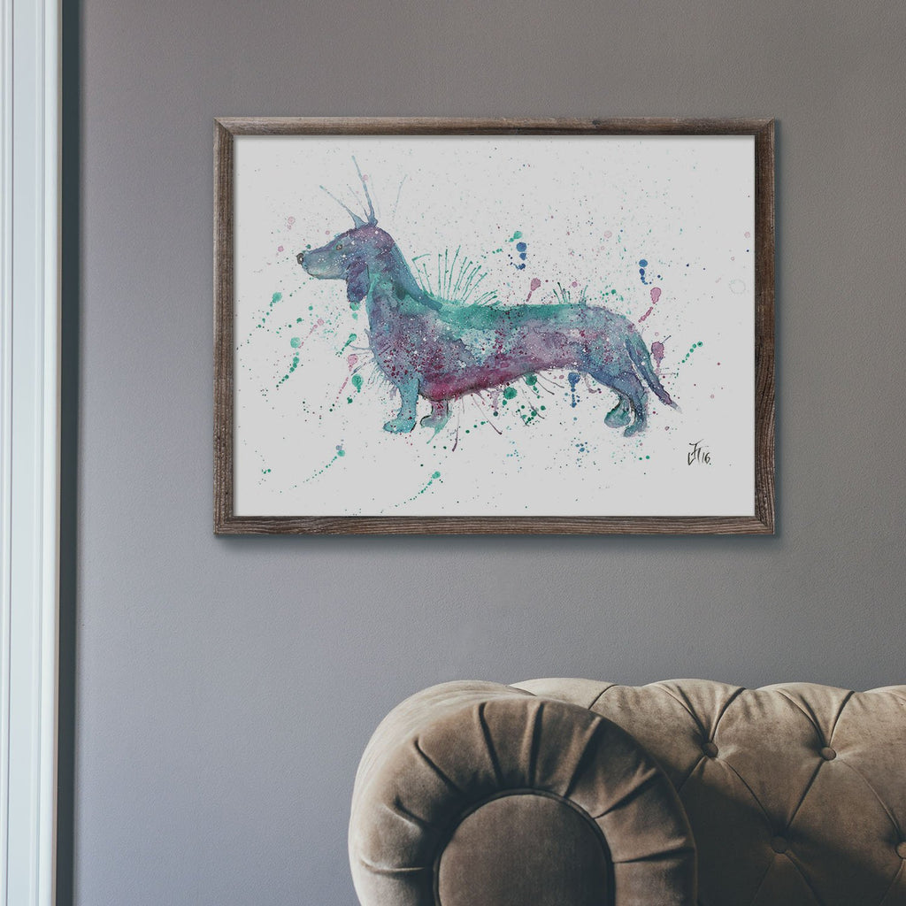 Mr Sausage Dog Art Print