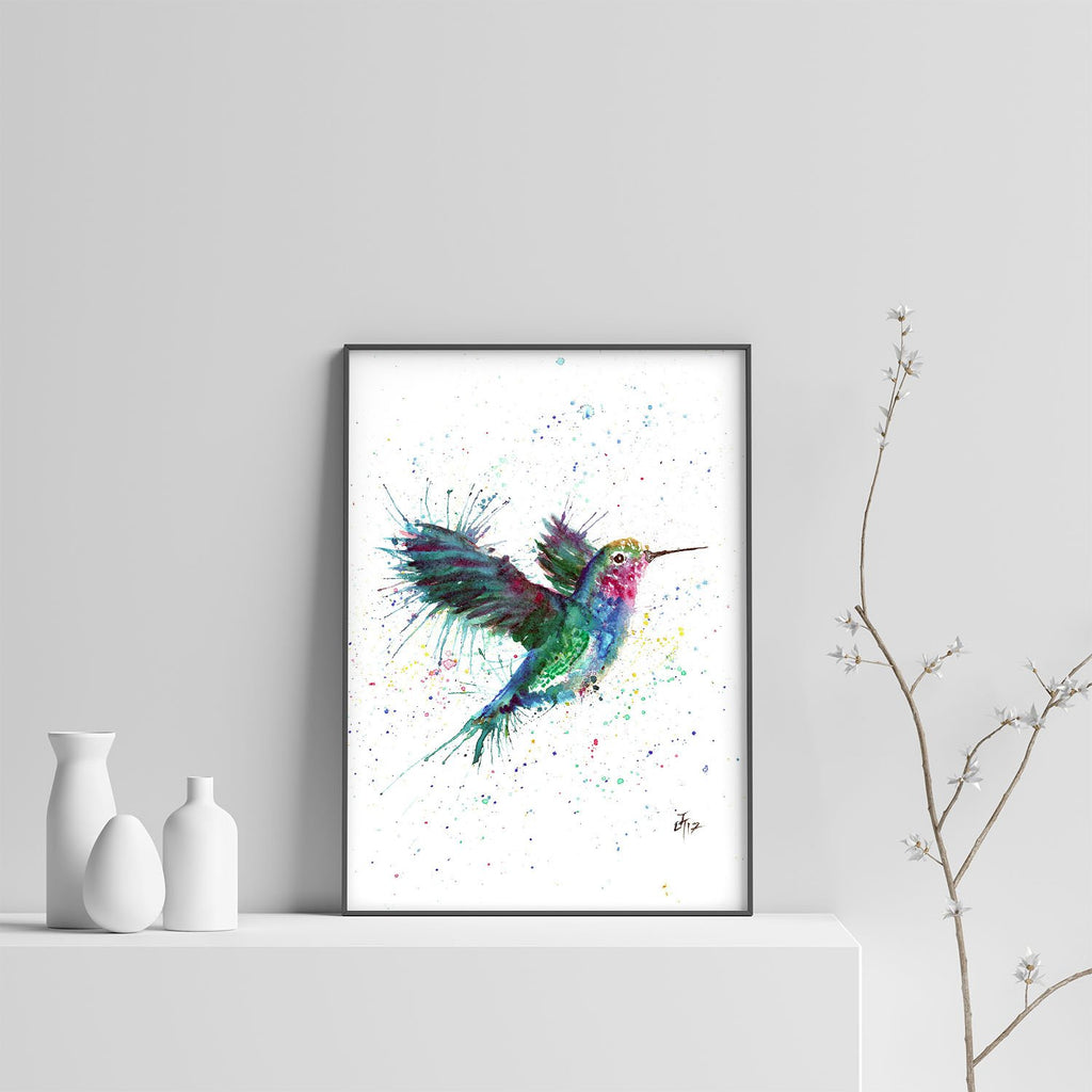 """Sue"" Humming Bird Art Print"