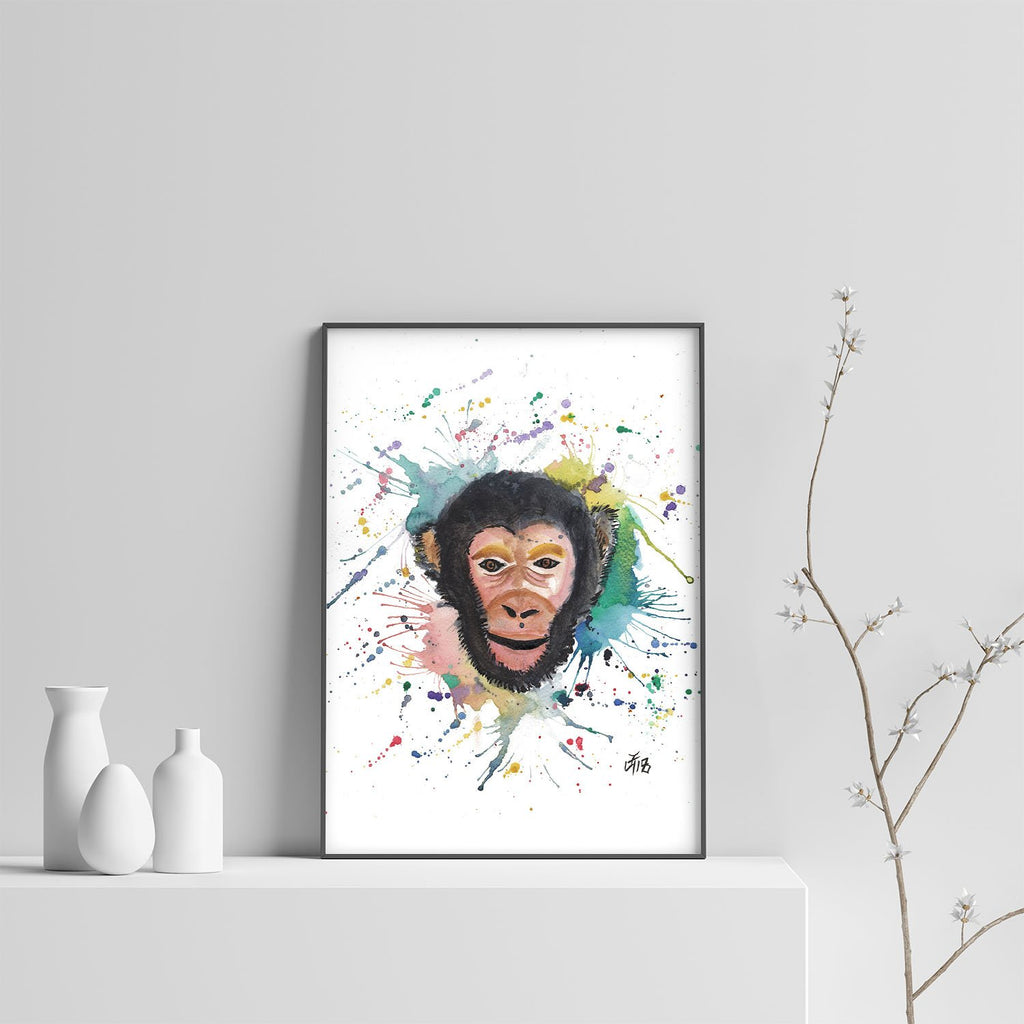 """Ciril"" Monkey Art Print"