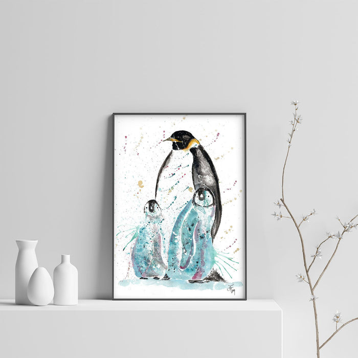 """My Love"" Penguins Art Print"