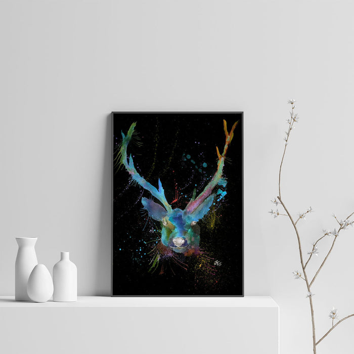 """Bruce"" Stag Enchanted Art Print"