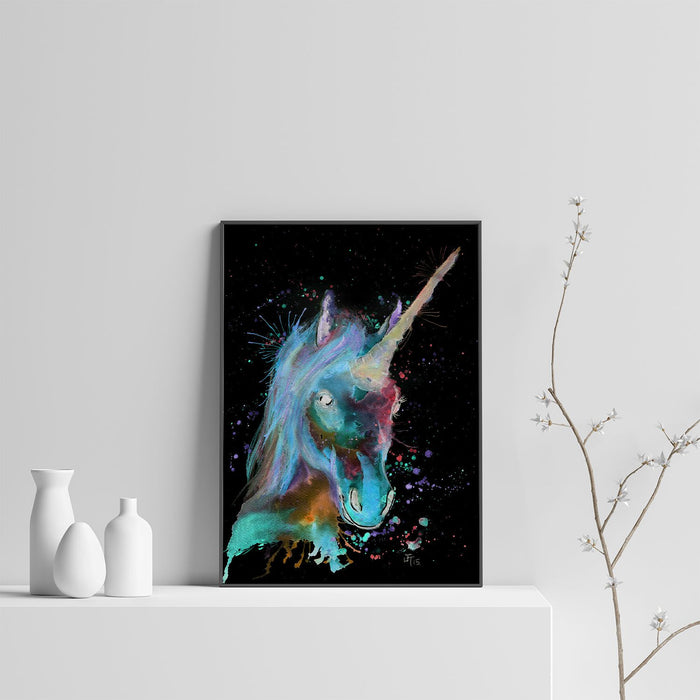 """Marge"" Unicorn Enchanted Art Print"