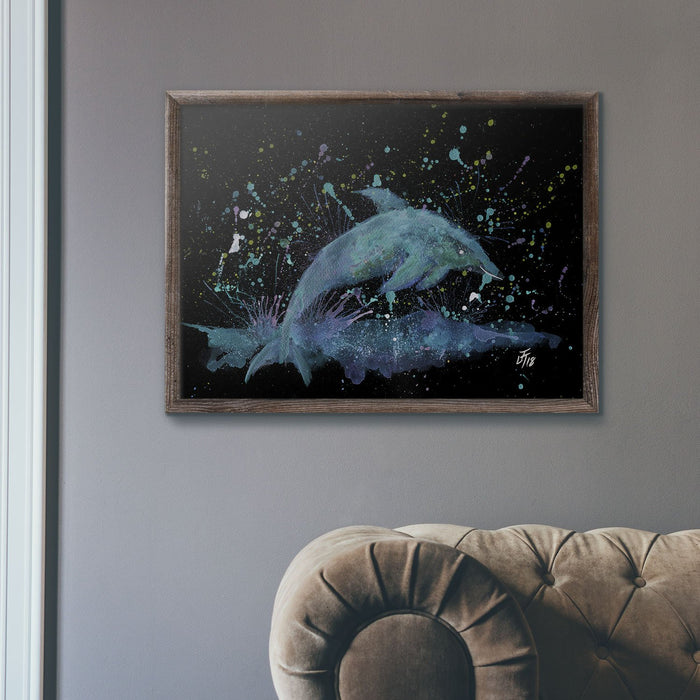 """Bottle"" Dolphin Enchanted Art Print"