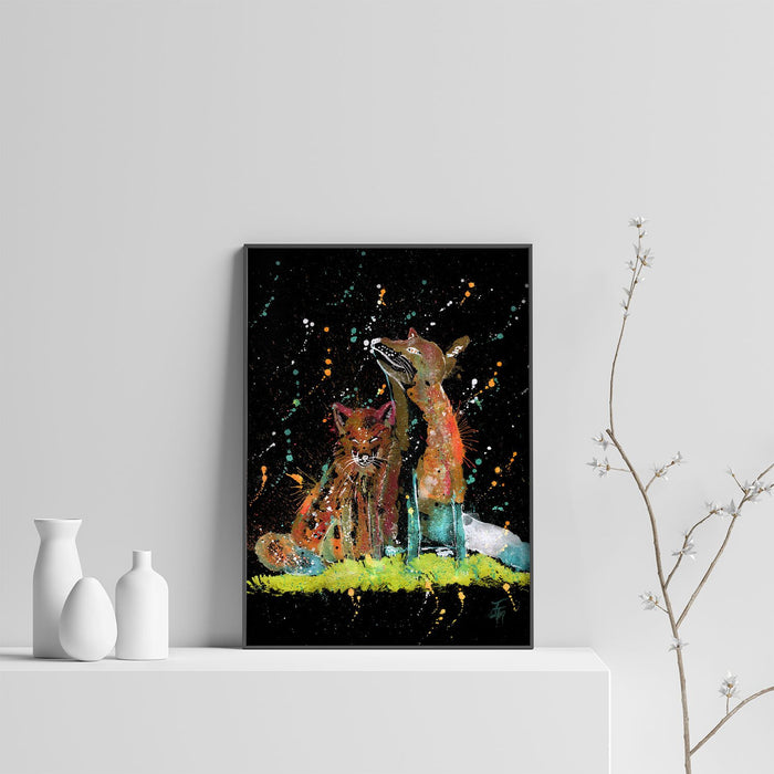 """Always Us"" Foxes Enchanted Art Print"