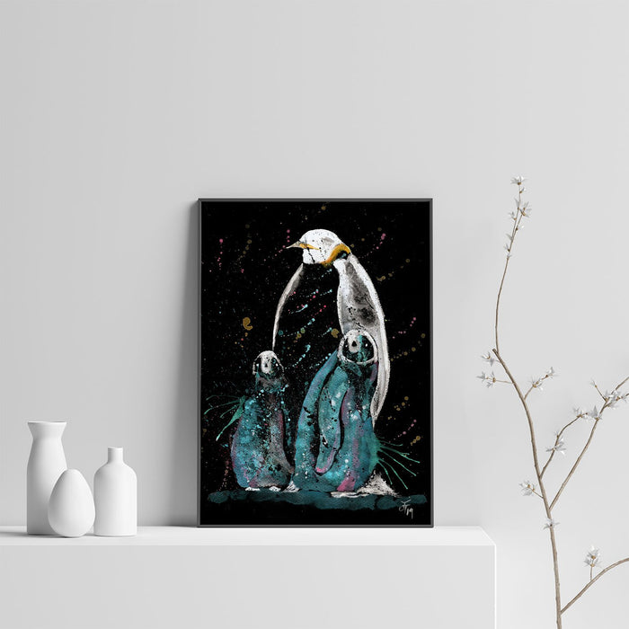 """My Love"" Penguins Enchanted Art Print"