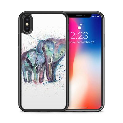 """Us"" Mummy & Babby Elephant Bumper Phone Case"