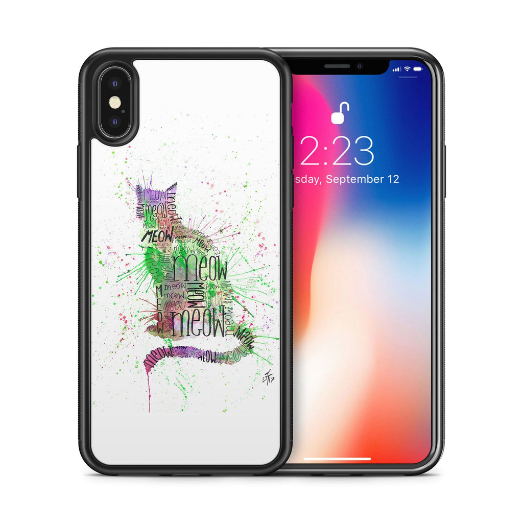 """Meow"" Green Bumper Phone Case"