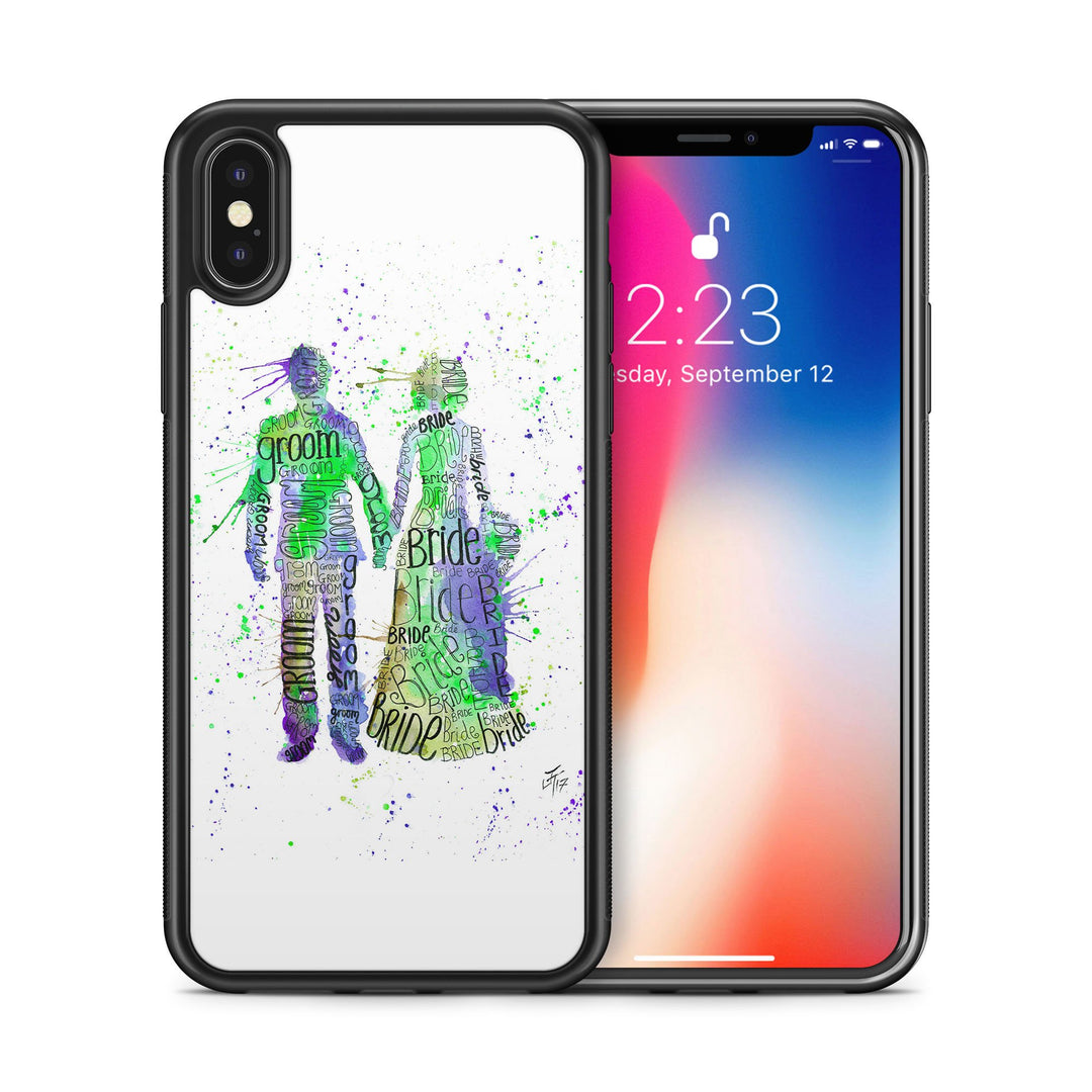 Bride & Groom (Green) Bumper Phone Case