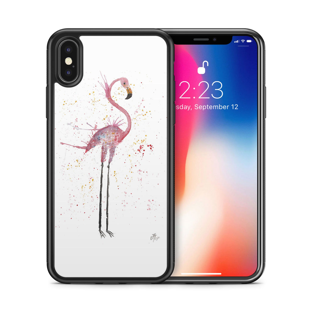 """Sheila"" Flamingo Bumper Phone Case"