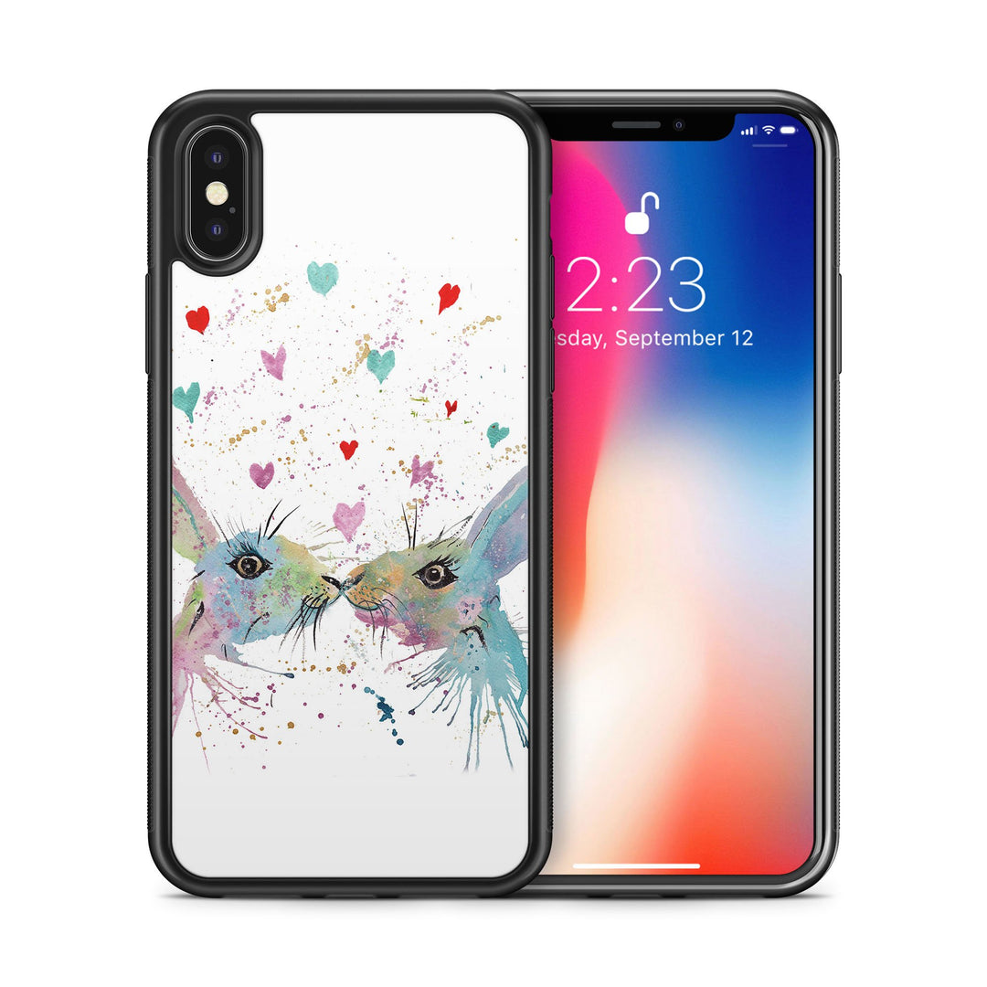 Bunnies in Love Bumper Phone Case