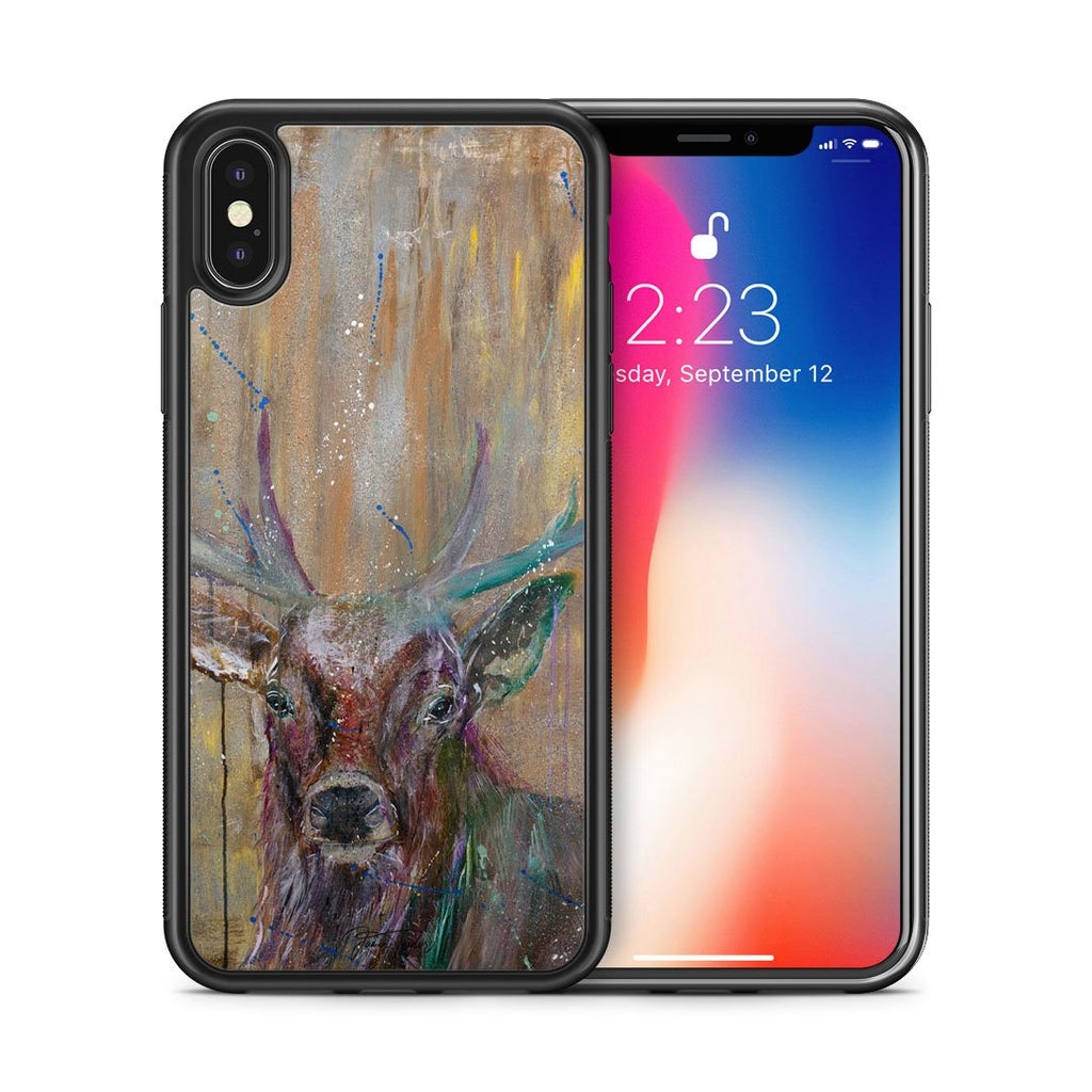 """Illustrious"" Stag Bumper Phone Case"