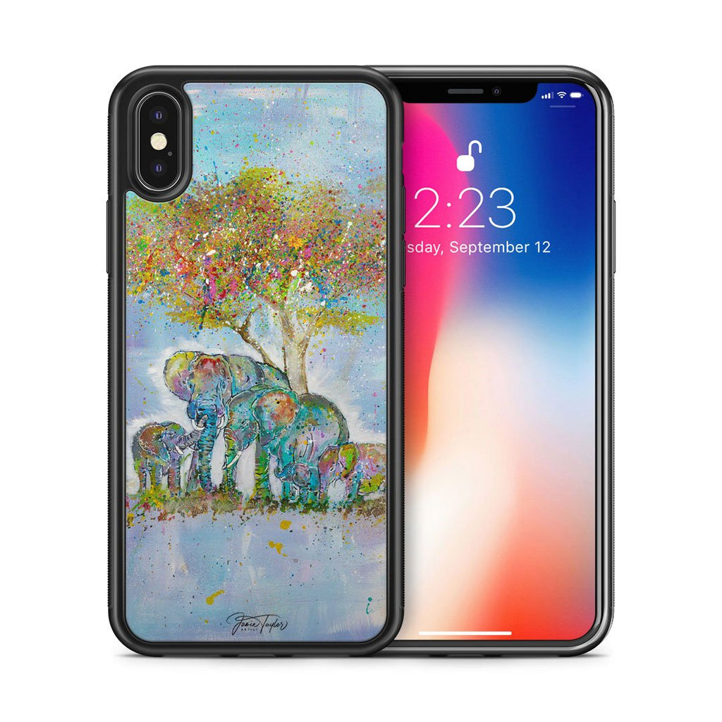 """Blessed"" Elephants Bumper Phone Case"