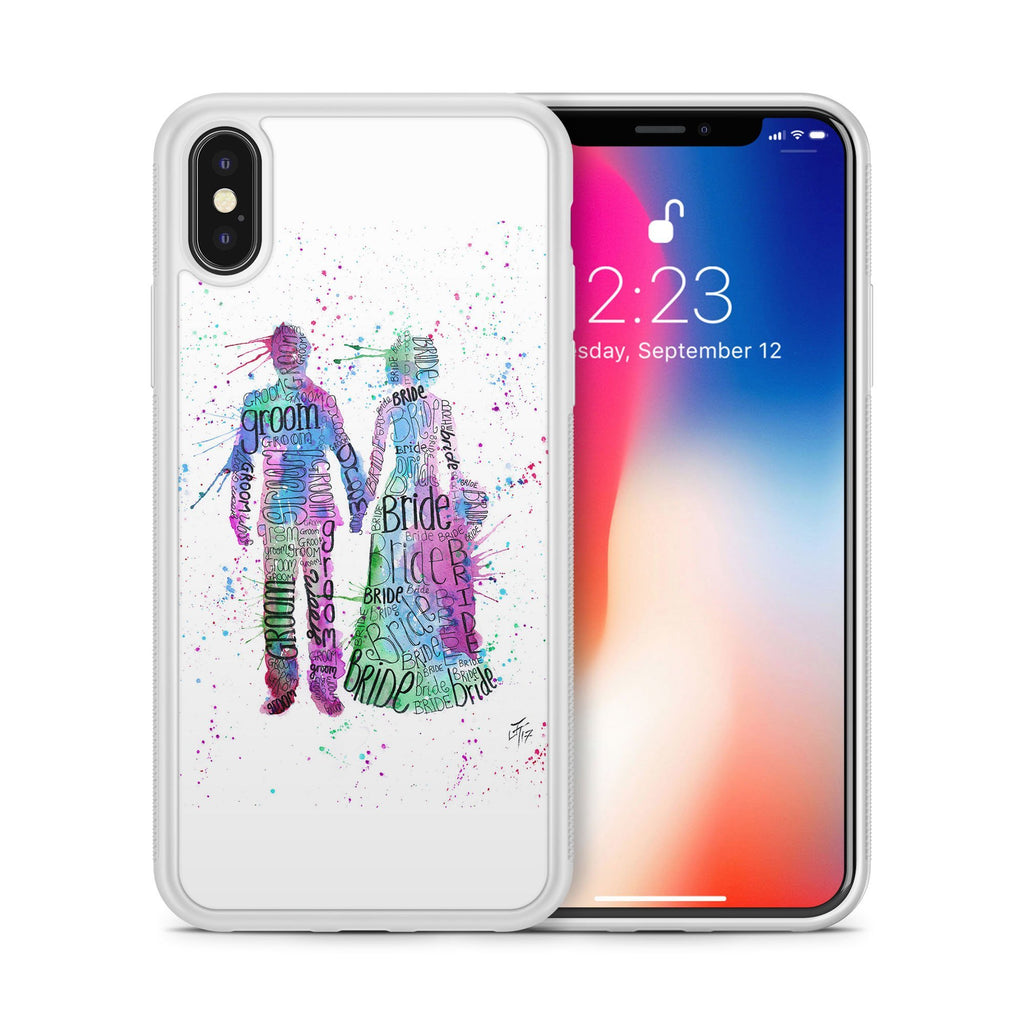 Bride & Groom (Pink) Bumper Phone Case