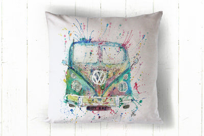 Rainbow camper 40 x 40cm cushion cover