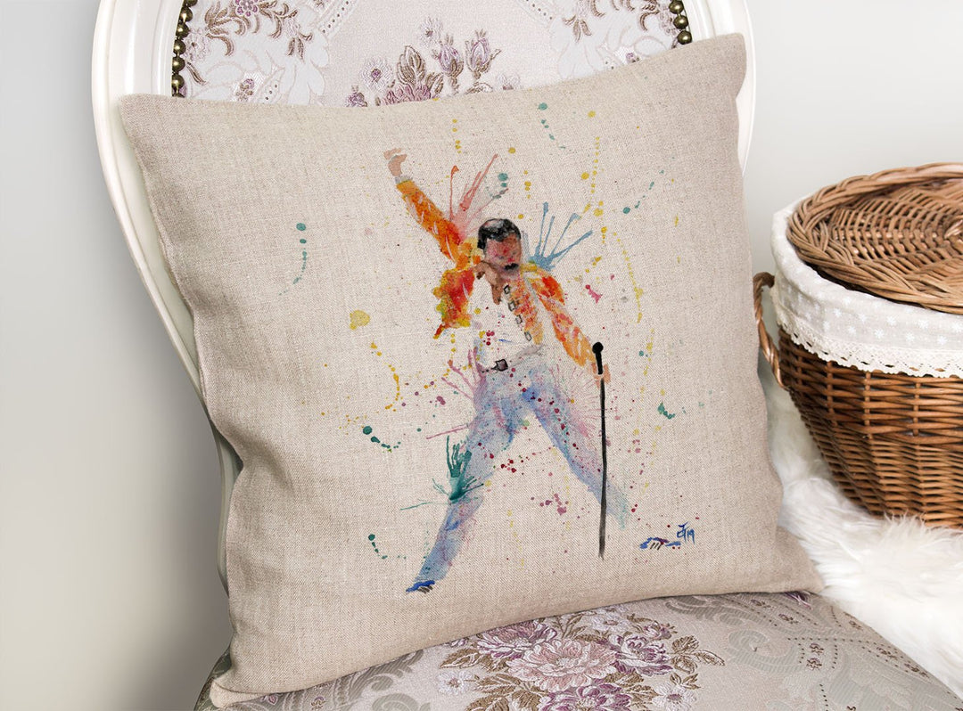 """Freddie"" Natural Look Linen Cushion Cover"