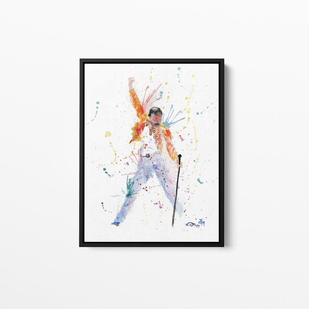 Freddie Framed Canvas Print
