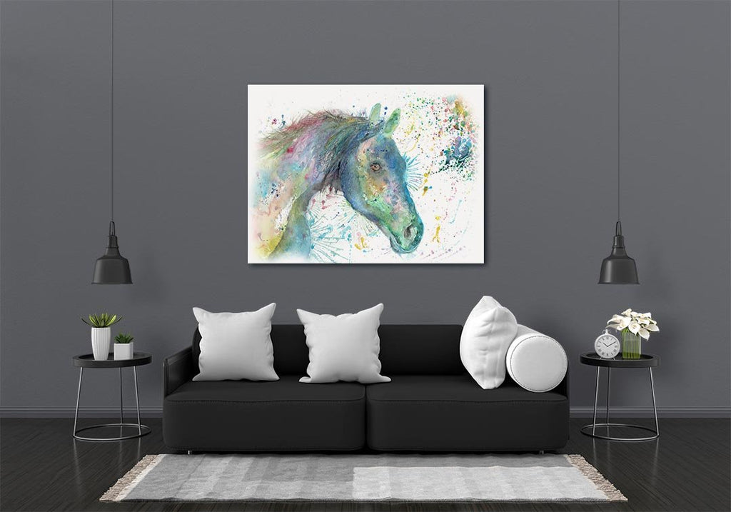 """Neigh"" Horse Canvas Print"