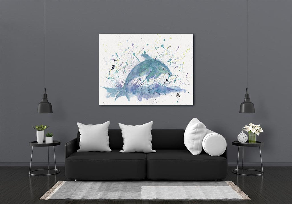 """Bottle"" Dolphin Canvas Print"