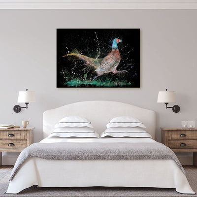 """Fez"" Pheasant Enchanted Canvas Print"