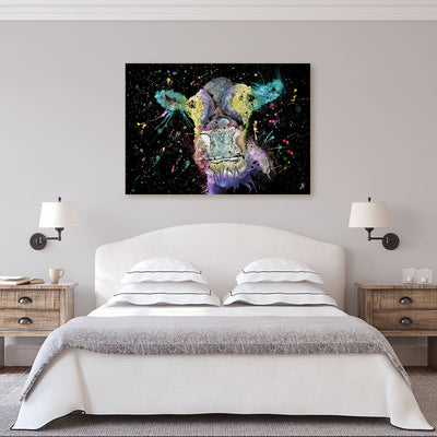 """Daisy"" Cow Enchanted Canvas Print"