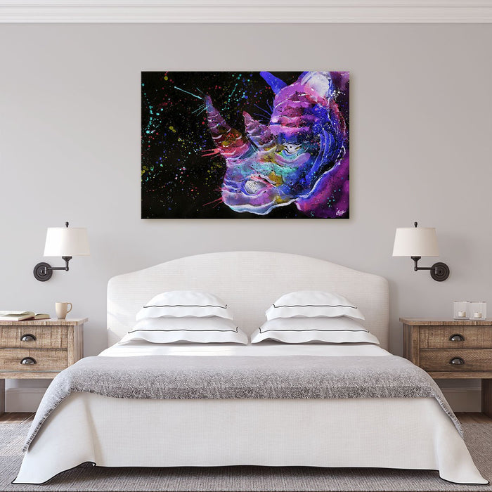 """Winston"" Rhino Enchanted Canvas Print"