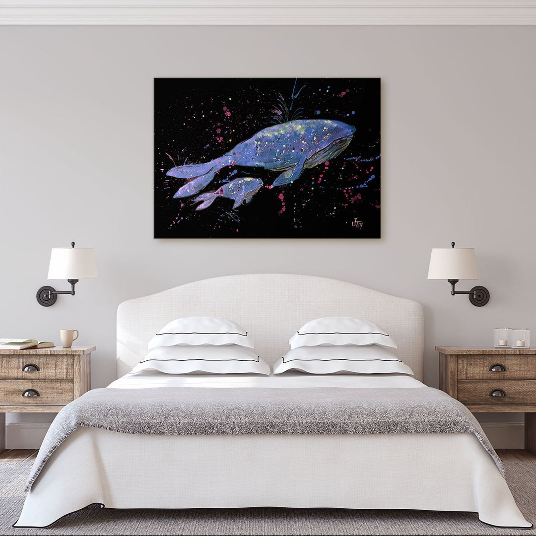 Berta & Baby Whale Enchanted Canvas Print