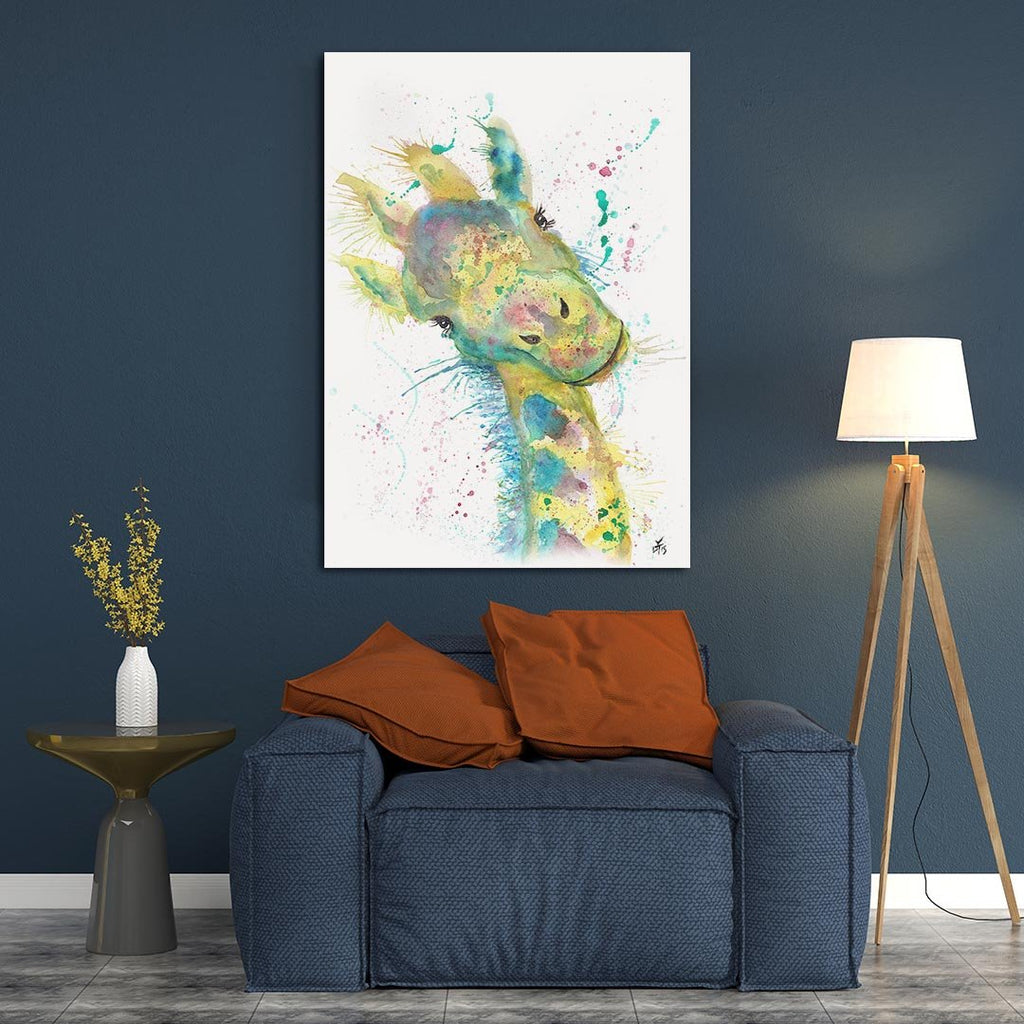 """Hattie"" Giraffe Canvas Print"