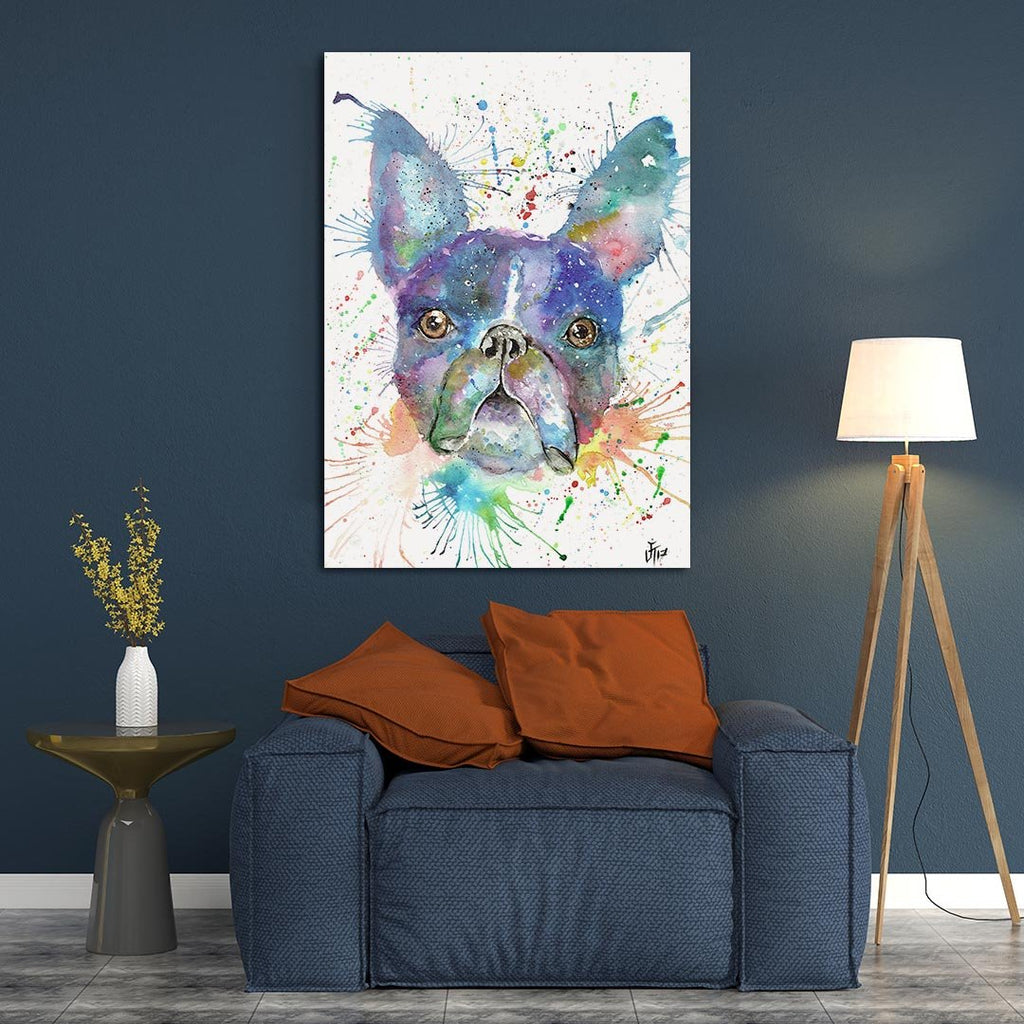"""Bruno"" Boston Terrier Canvas Print"