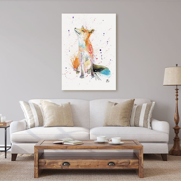 """Wishes"" Fox Canvas Print"
