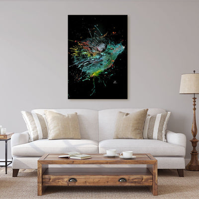 """Cannonball"" Hedgehog Enchanted Canvas Print"