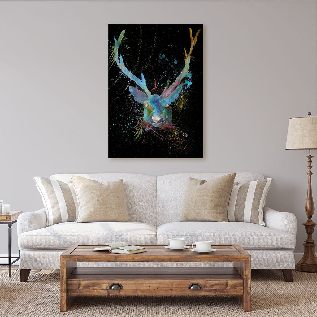 """Bruce"" Stag Enchanted Canvas Print"