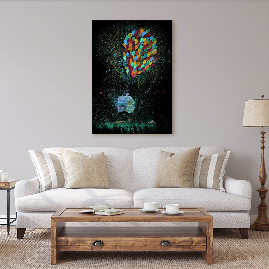 Balloon House Enchanted Canvas Print