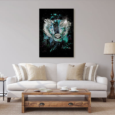 """Baz"" Badger Enchanted Canvas Print"