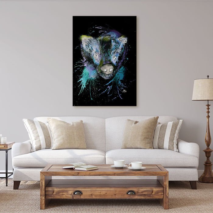 """Badge"" Badger Enchanted Canvas Print"