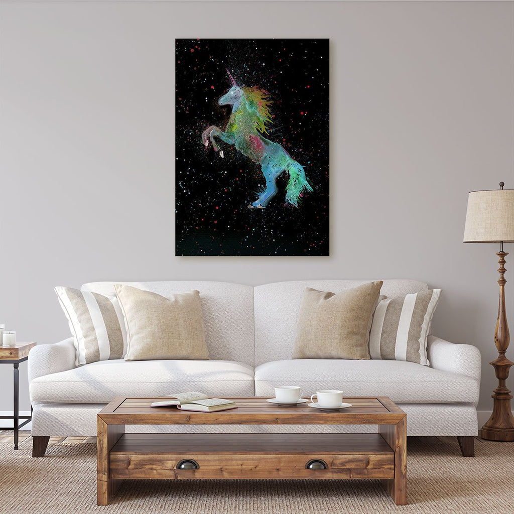 Rainbow Unicorn Enchanted Canvas Print