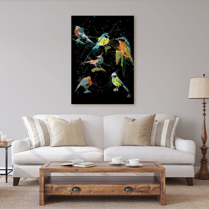 Brit Birds Enchanted Canvas Print